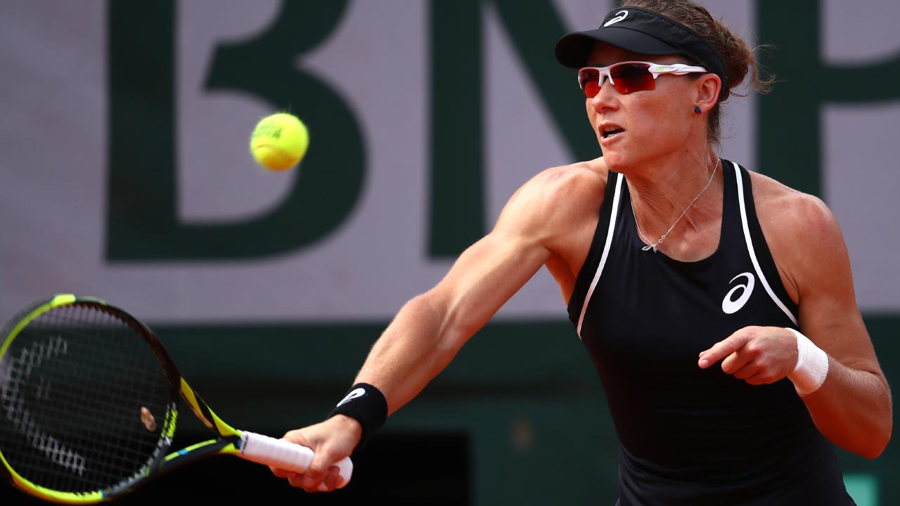 Sam Stosur suffered a heavy defeat to Garbine Muguruza.