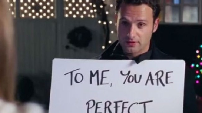 Lincoln in Love Actually when he was a stalker creep rather than walker deep.