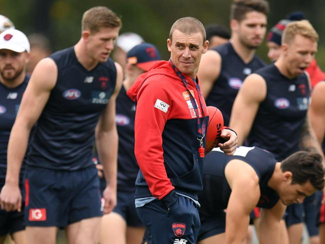 Melbourne Demons coach Simon Goodwin believes his side can compete with the best. Picture: Julian Smith/AAP