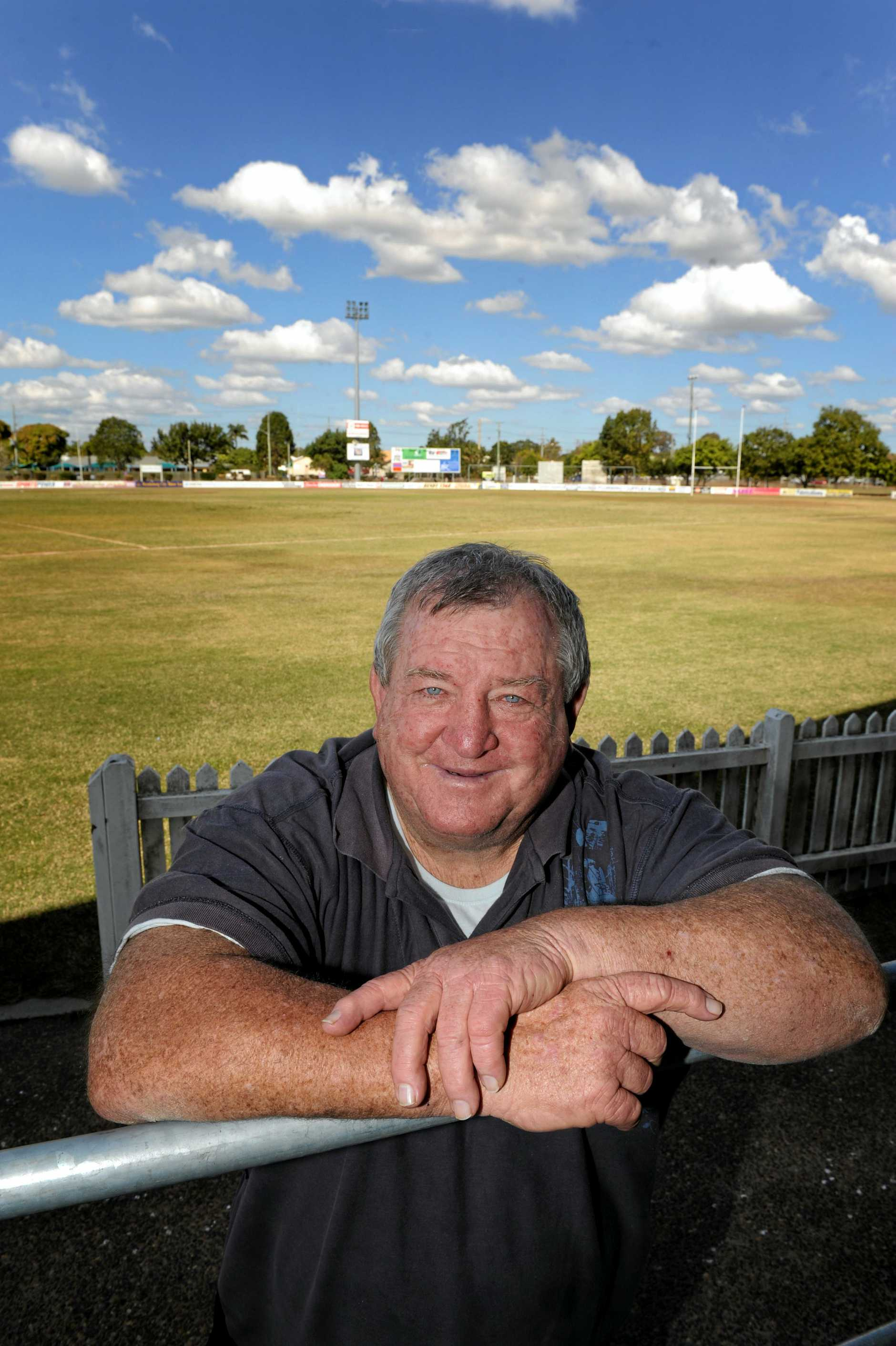 BIG LOSS: Mal Breen at Salter Oval in 2011 and (inset) as captain-coach of Hervey Bay Seagulls in their first-ever premiership in 1974.