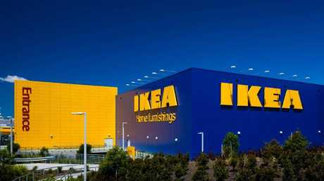 Ikea, whose Sydney store at Tempe is above, said homes will shrink in the future.