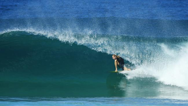 Surfs up at Peregian Beach. Picture: Lachie Millard