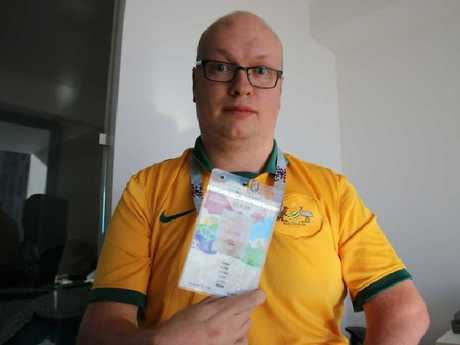 Socceroo fan Aaron Camm is outraged over the cancellation.