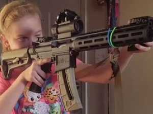Nine year old is NRA pin-up girl