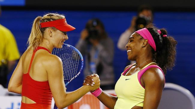 Serena Williams (R) and Maria Sharapova have had a frosty relationship. Pic: Wayne Ludbey