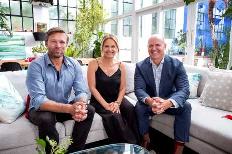 Marshal Keen, Shaynna Blaze and Rich Harvey star in the new TV series Buying Blind.