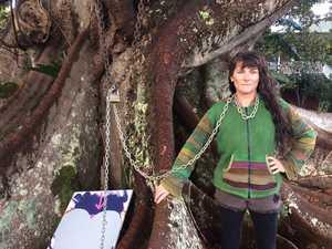 Protestor spends night at tree