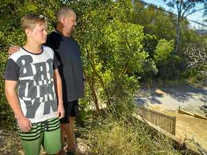 DODGING DEATH: Teen survives 6m fall on birthday bike