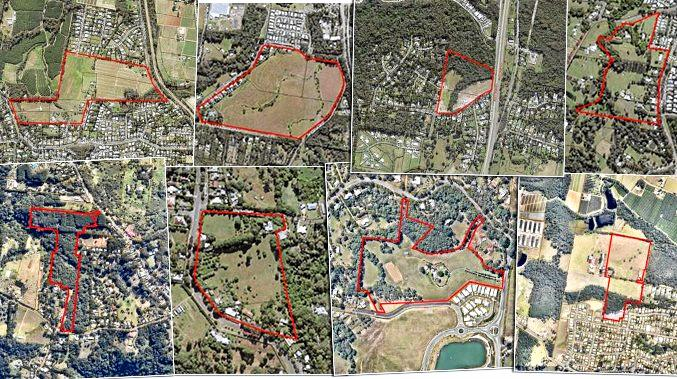 Blocks of predominately rural land on the Sunshine Coast are proposed to be developed for residential purposes.