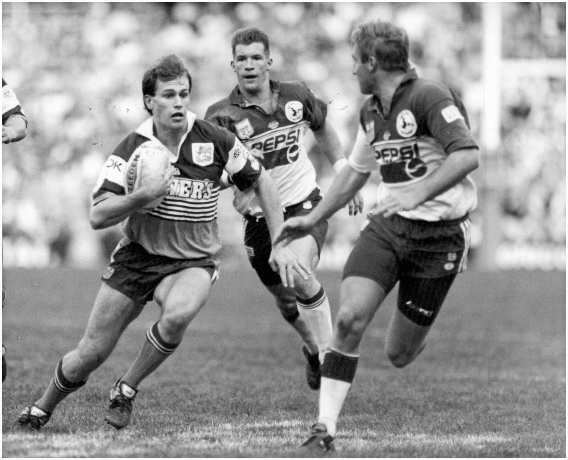 Willie Carne playing for the Brisbane Broncos.