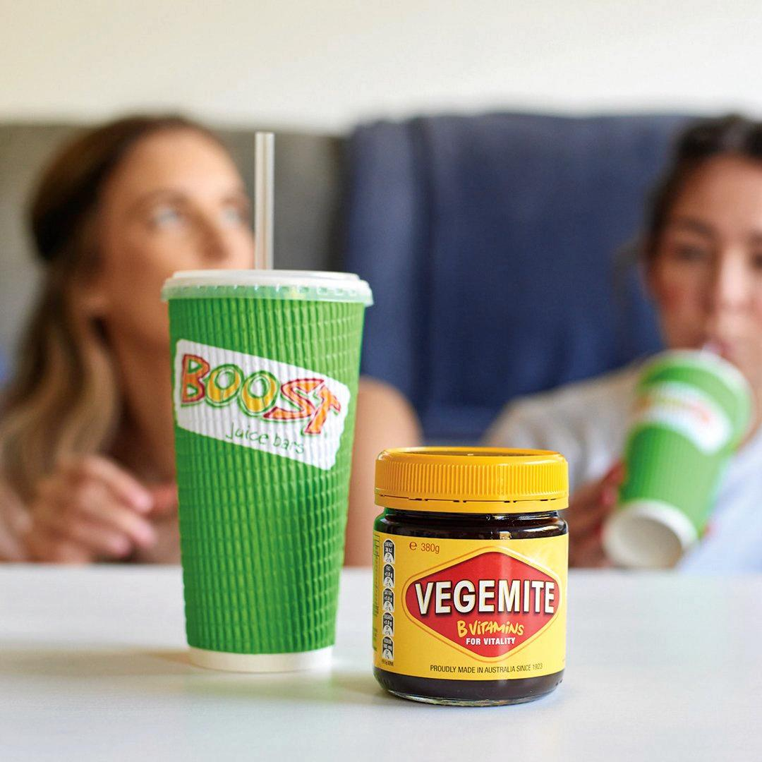 Boost Juice, has joined forces with an Aussie icon to launch its all new Vegemite Boost.