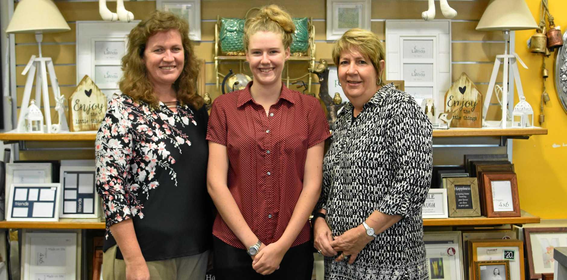 NEW BUSINESS DEVELOPMENT: Bronwyn and Stacey Christensen take over Duggan's camera store from Noelene Luck