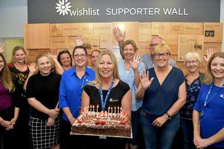 Lisa Rowe and the Wishlist team celebrate the 20th birthday of the Sunshine Coast charity service.