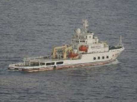 Chinese ship Nan Hai Jiu searches in the southern Indian Ocean on March 29, 2014. Picture: Jason Reed/AFP