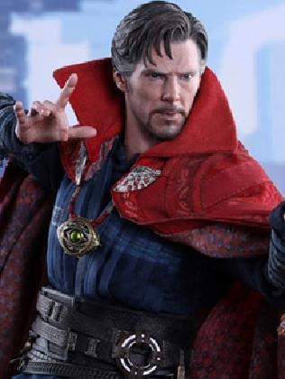 Cumberbatch as Dr Strange.