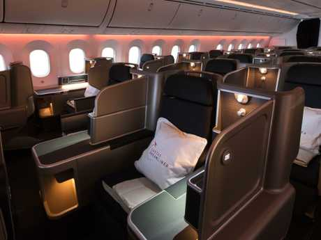The business class seats must be that comfortable. Picture: Qantas