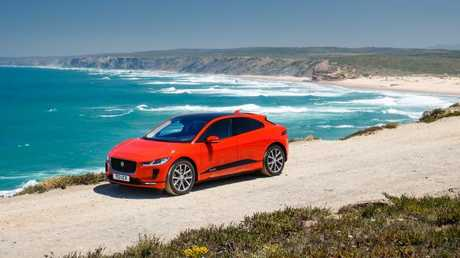 The I-Pace will do between 300km and 480km on a single charge. Picture: Supplied.