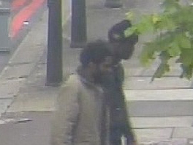 Michael Adebolajo, 28, and Michael Adebowale, 22, are spotted wielding deadly weapons after allegedly killing and mutilating Fusilier Lee Rigby.