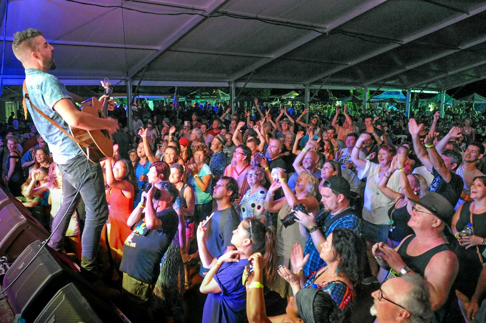 HOT SPOT: Tourists flocked to this year's blues fest at Agnes Water.