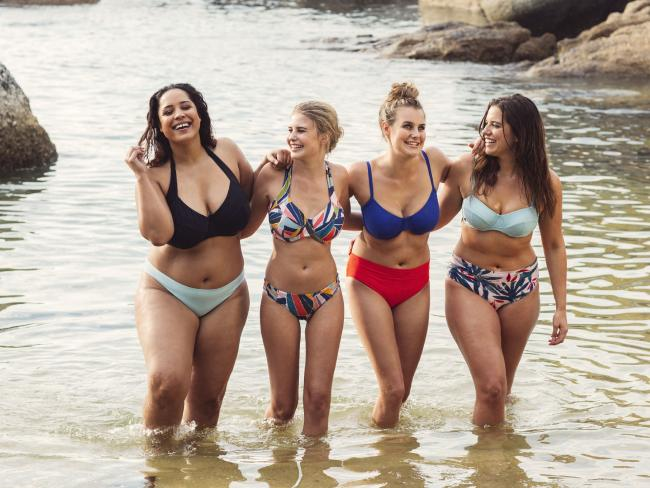 Models wearing bikinis from Australian born swimwear brand Lilly & Lime.