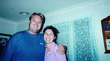 The actual Carl Williams with Roberta in the late 1990s.