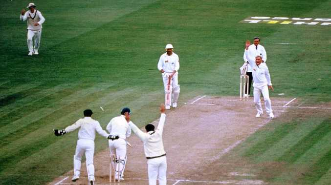 Shane Warne bowling out Mike Gatting with his first ball in an England Ashes series in 1993.