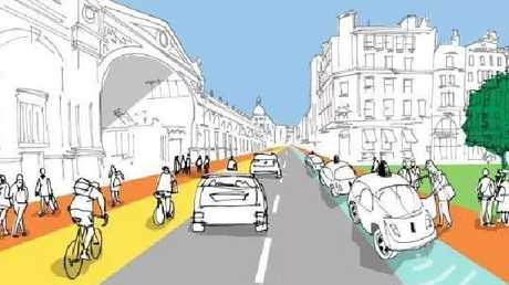 An artist's impression of how the lanes could operate