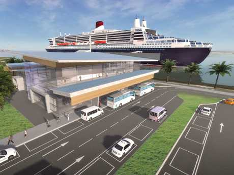 An artist's impression of the new Luggage Point cruise ship terminal.