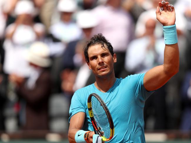 Rafael Nadal is through to the quarters in Paris.