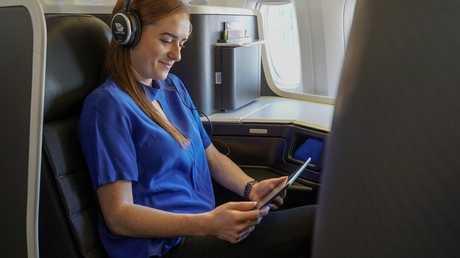 Virgin Australia has introduced in-flight Wi-Fi to international flights. Picture: Virgin Australia