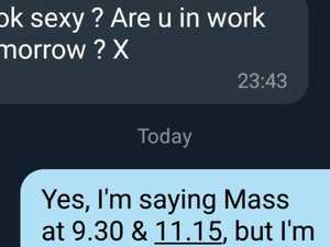 RUSH HOUR: Priest's witty reply to 'sexy' text