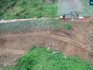Drone footage of Sarina Range works