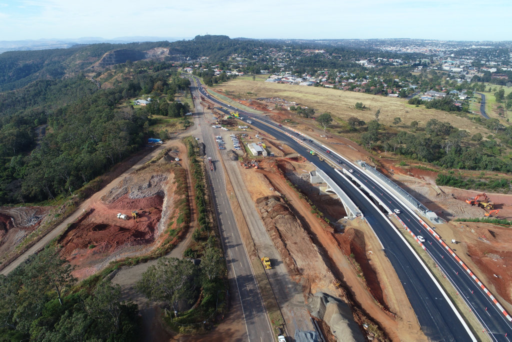 Work progressing on Toowoomba Second Range Crossing, June 6 2018.