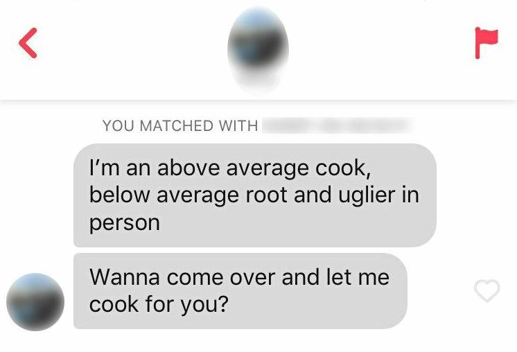 SWIPE LEFT OR RIGHT: Some examples of Tinder correspondence