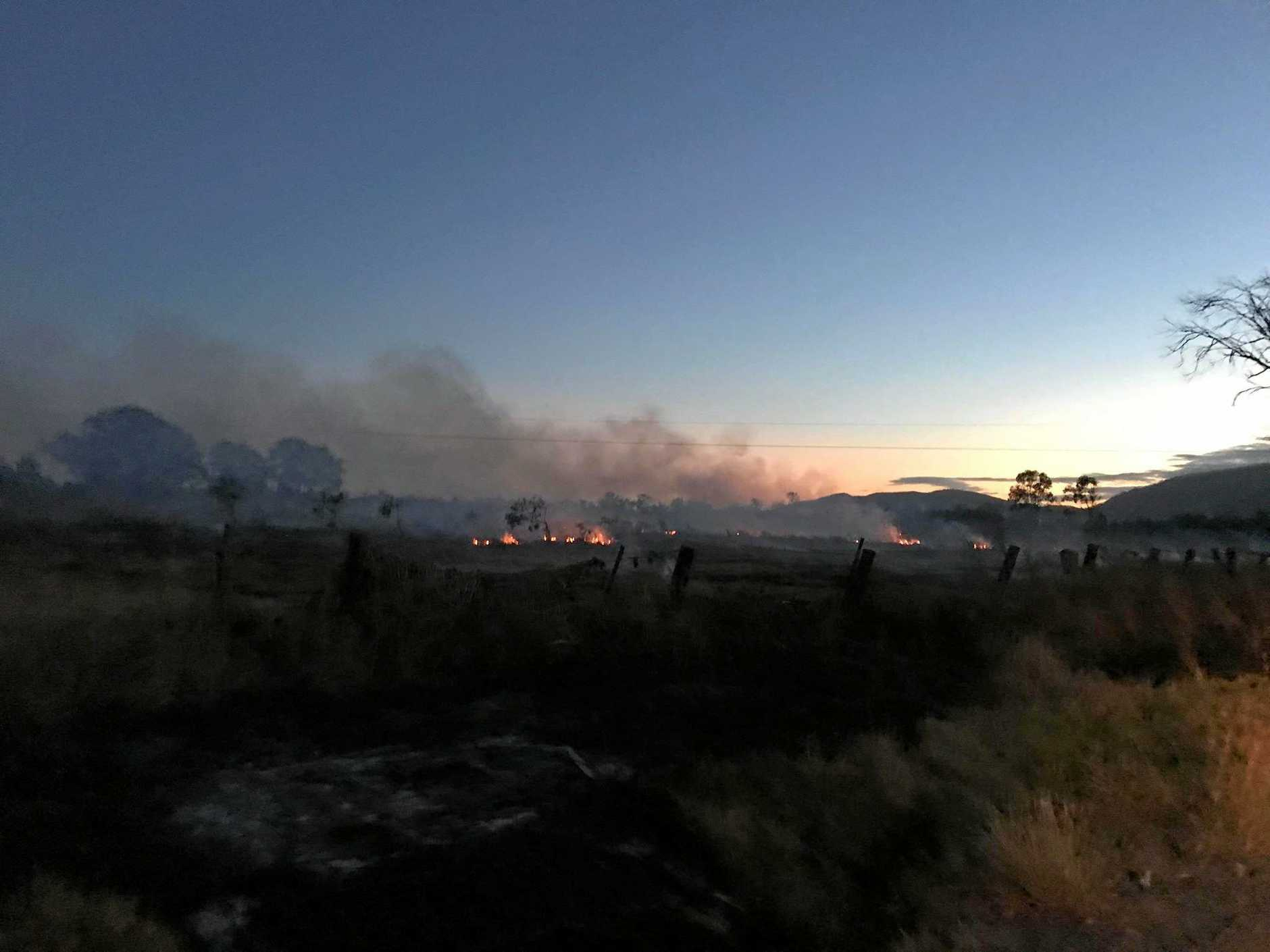 Photos from the backburning fire in bushland in the southern end of Quay St in Depot Hill early this morning.
