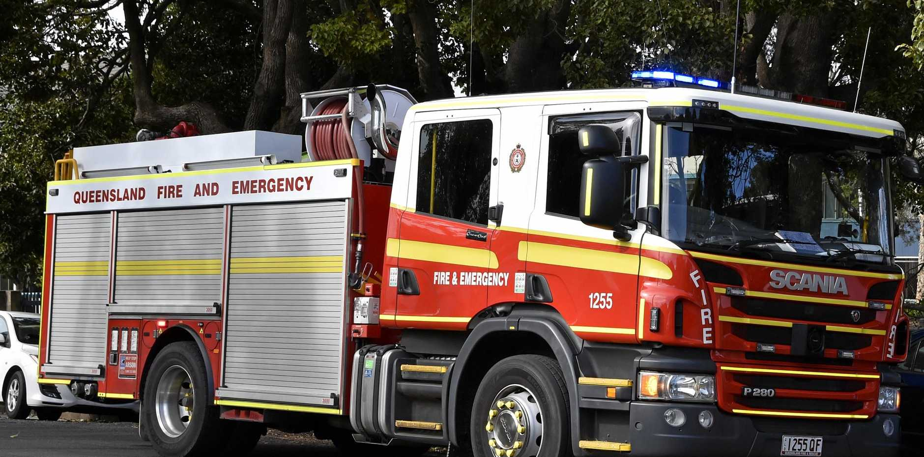 Fire Truck, QFES, Emergency Ssrvices Photo Bev Lacey / The Chronicle