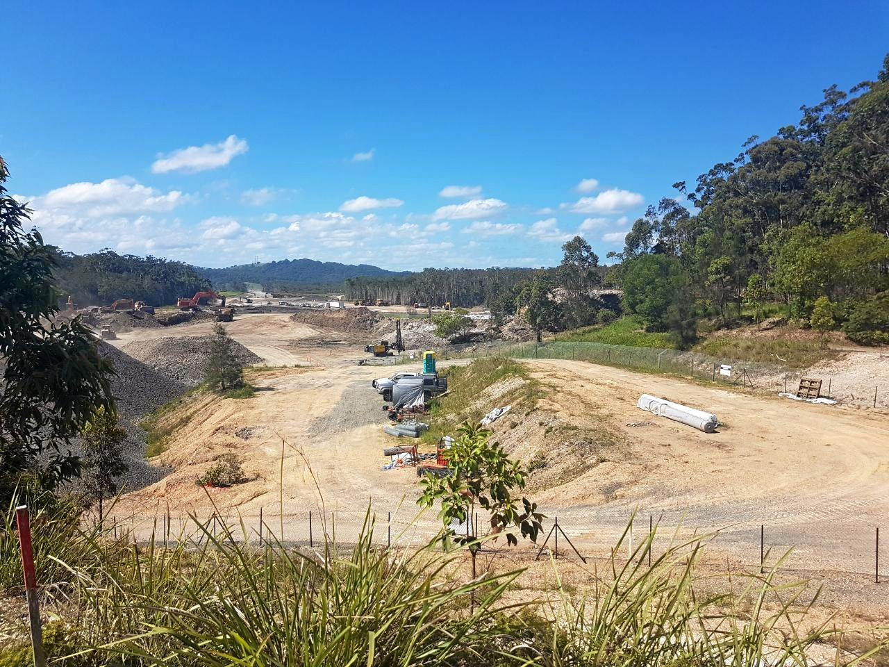 A section of the Pacific Highway upgrade, for which the last contract will be awarded soon.