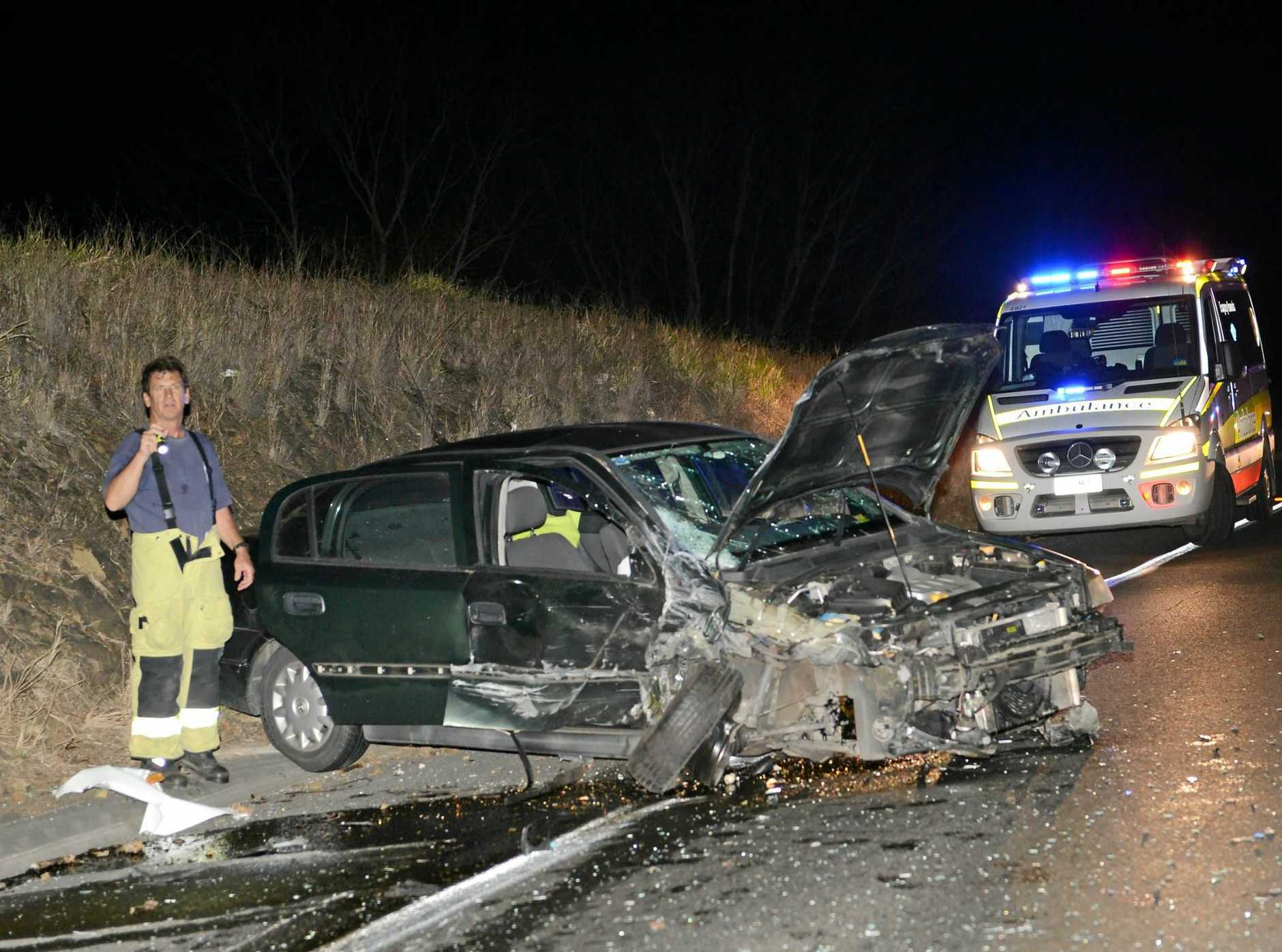 Fatal accident on the Bruce Highway in Gympie where a 50 year old man died.