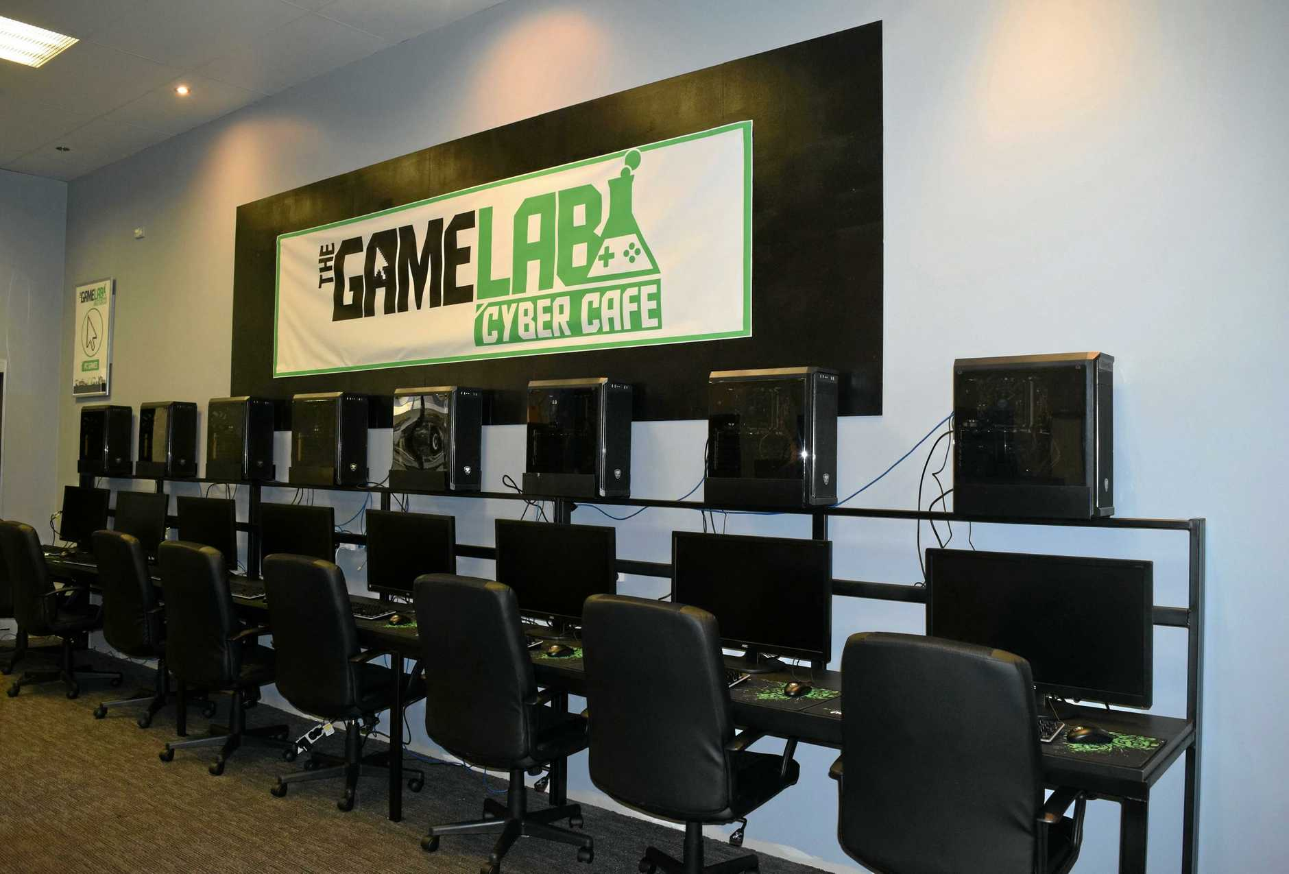 GOING CYBER: An inside look at the computers at the Game Lab Cyber Cafe.