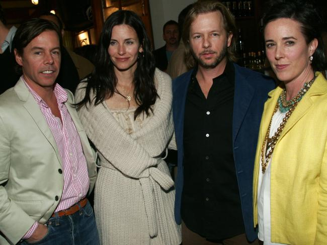 Andy Spade, Courteney Cox, David Spade and Kate Spade in 2006.  Picture:  Getty