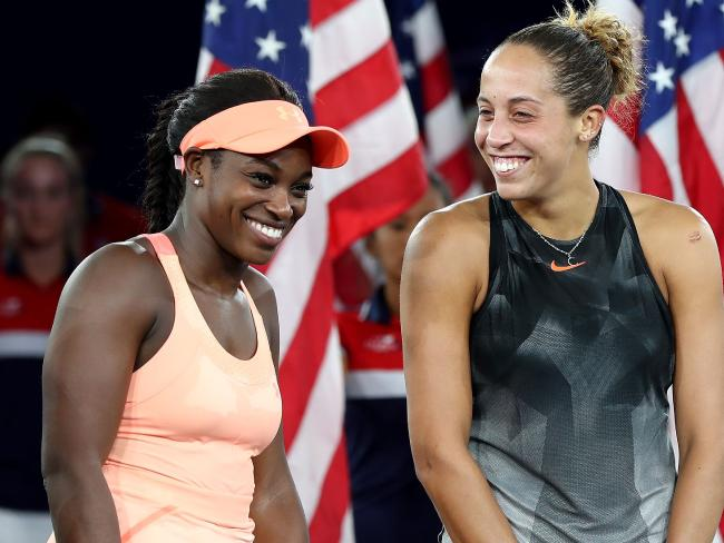 Sloane Stephens and Madison Keys both of the United States after the US Open.  Picture:  Getty
