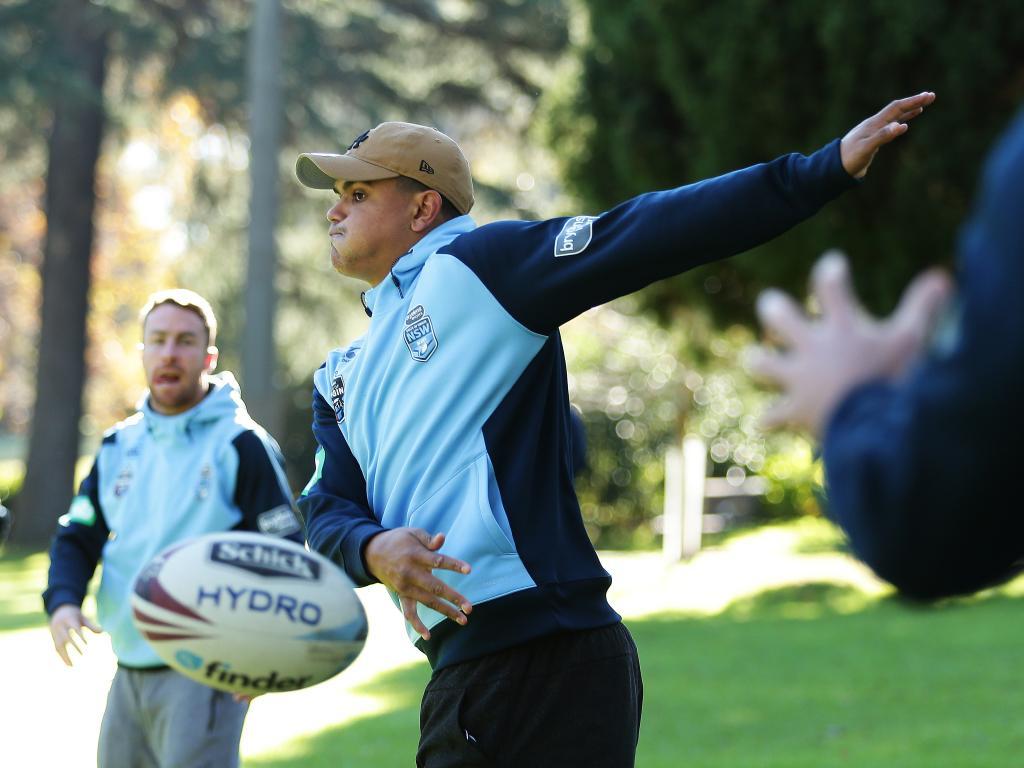 Latrell Mitchell will  take his place in the NSW Origin team. Picture: Brett Costello