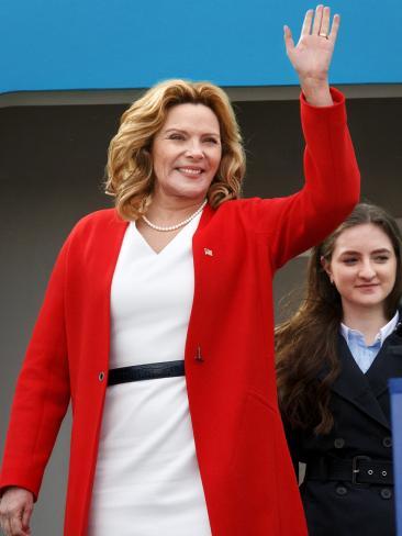Kim plays US president Helen Tyler in season two of Modus.