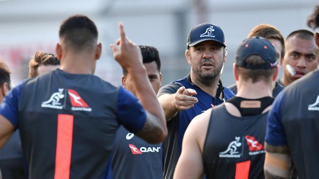 Wallabies coach Michael Cheika during training at Ballymore in Brisbane.