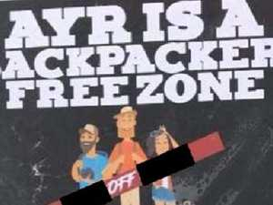 Fury over racist 'backpacker-free zone' poster