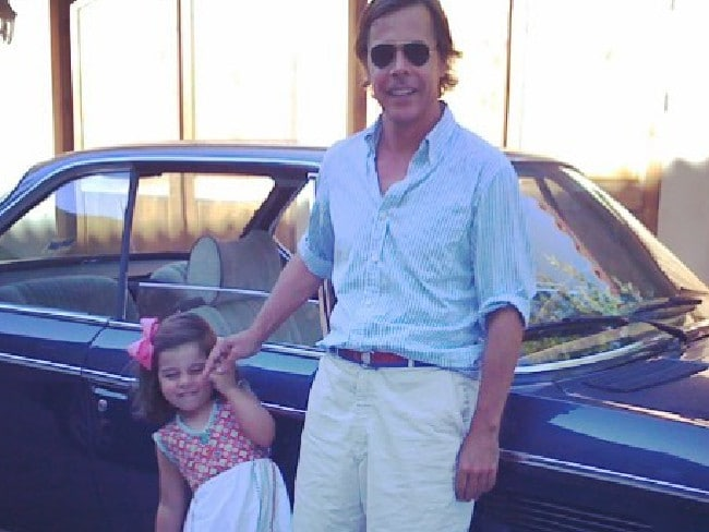 Andy Spade and their daughter Frances Beatrix when she was a child.