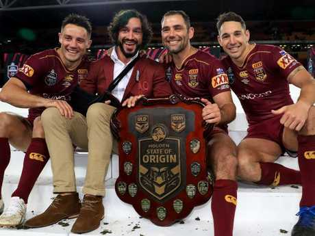 Sorely missed … Queensland struggled without Cooper Cronk, Johnathan Thurston, Cameron Smith and Billy Slater. Pic: Adam Head