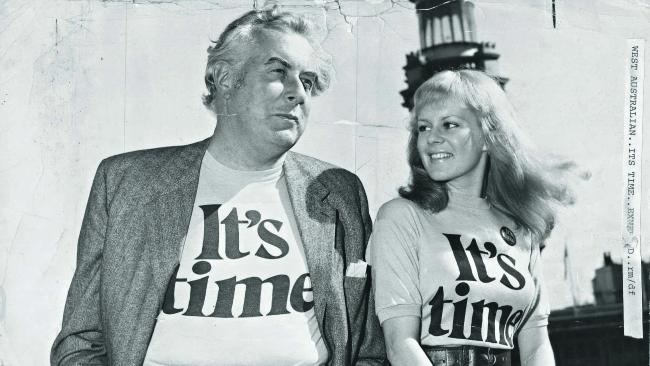 Popular singer 'Little Pattie' on the campaign trail with Gough Whitlam in 1972.
