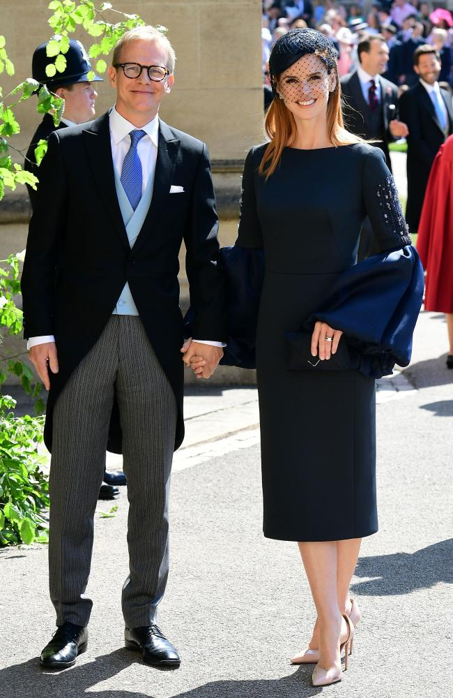 Sarah Rafferty and husband Santtu Seppala at the royal wedding. Credit: AFP Photo/POOL/Ian West