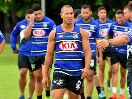 Moses Mbye could be playing his last game for the Bulldogs. Picture: Evan Morgan